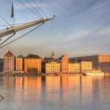 Stockholm met schip