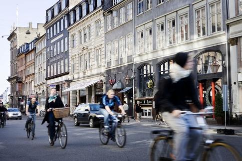 straat kopenhagen fietsen