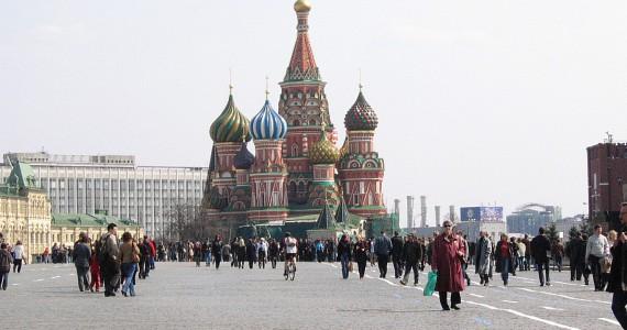 rode plein moskou met kathedraal