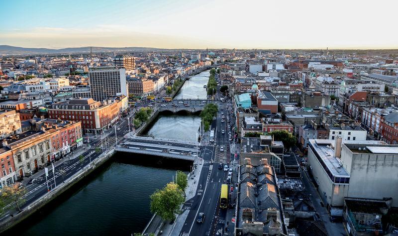 Dublin overzichtsfoto stad