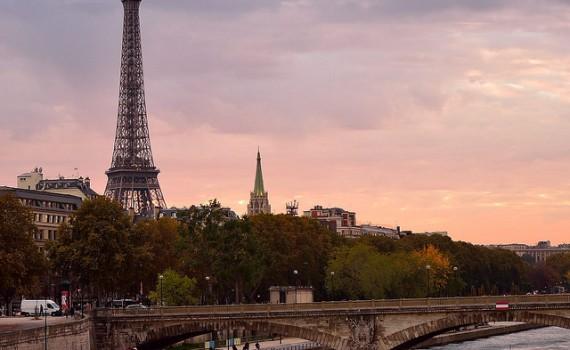 Parijs eiffeltoren seine