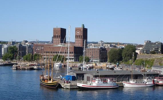 Oslo gezien vanaf de Oslofjord