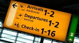 Bord vertrekken Schiphol