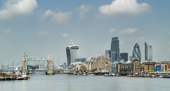 Londen skyline towerbridge