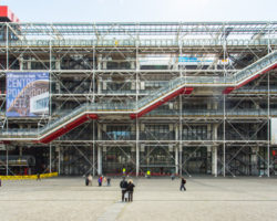 centre georges pompidou in parijs.