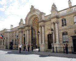Ingang Elysee Parijs