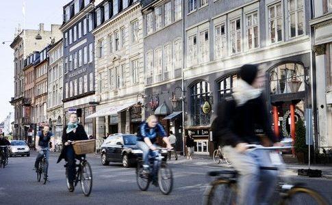 Kopenhagen fietsen straat