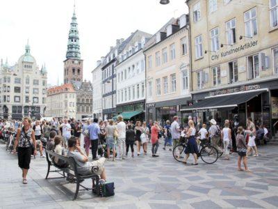 Stroget Winkelstraat Kopenhagen